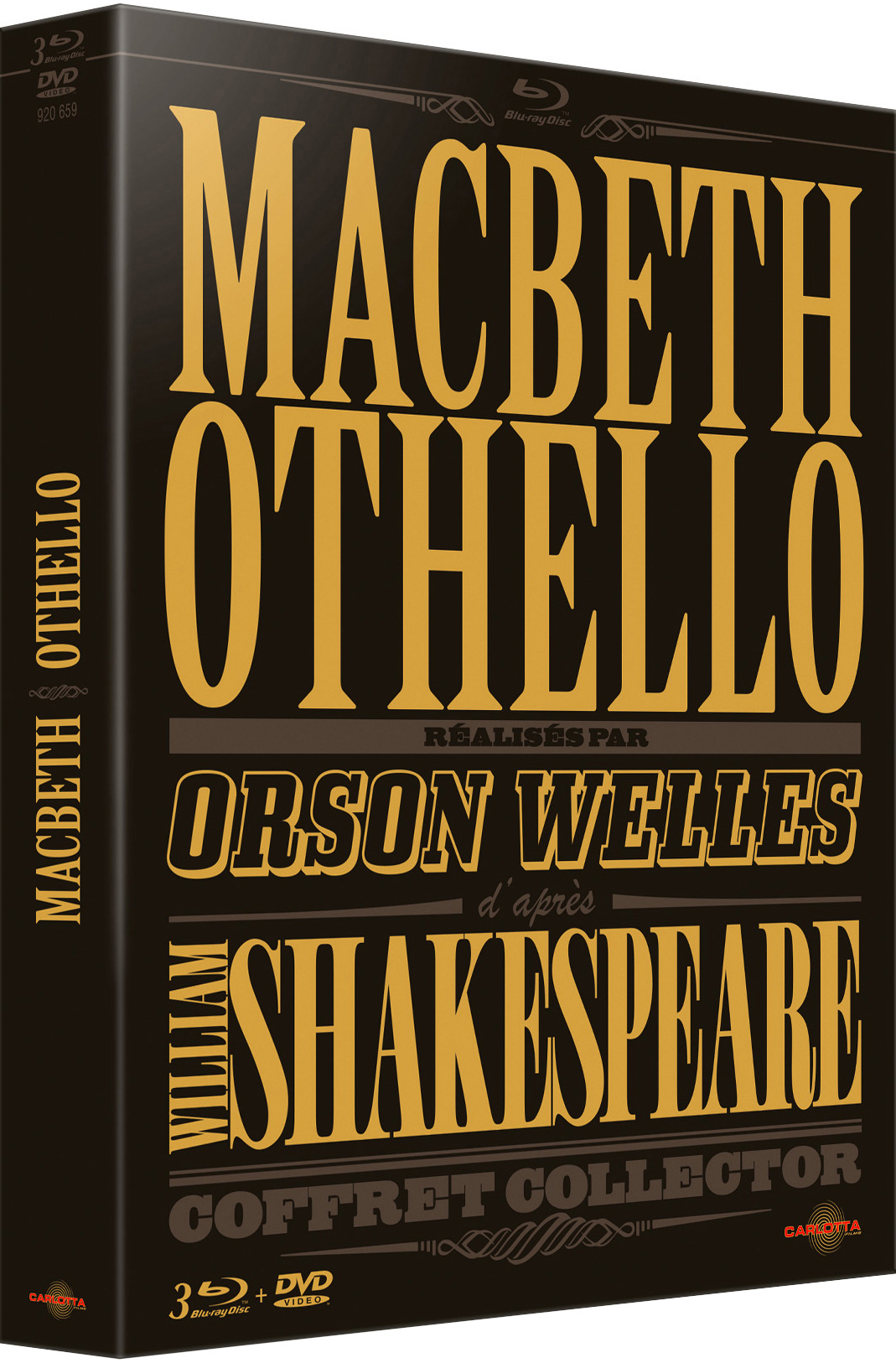 Coffret Macbeth Othello Welles