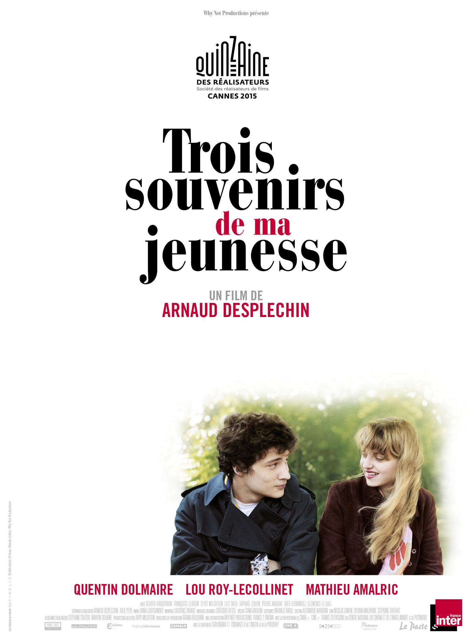 Trois Souvenirs de ma jeunesse - Affiche France