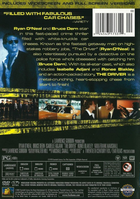Driver - Jaquette Verso DVD US