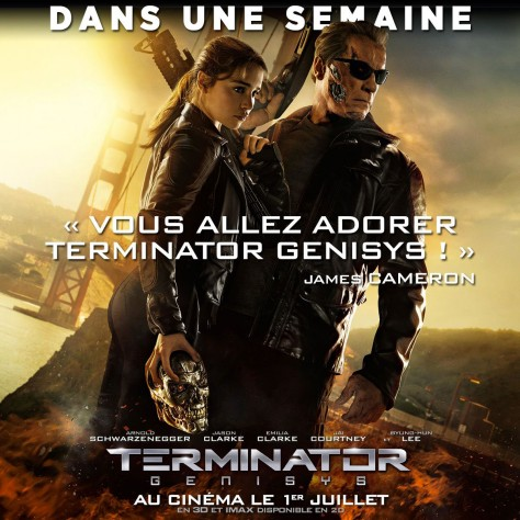 Terminator Genisys - Affiche promo France