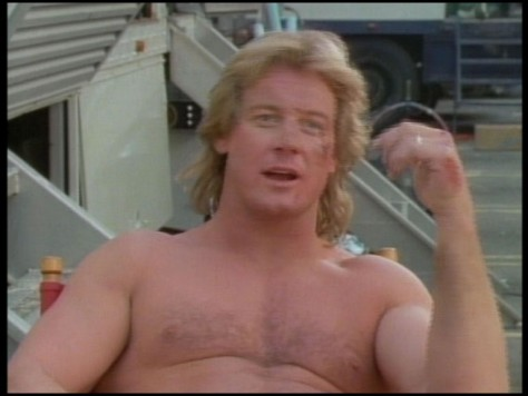 Roddy Piper sur le tournage d'Invasion Los Angeles