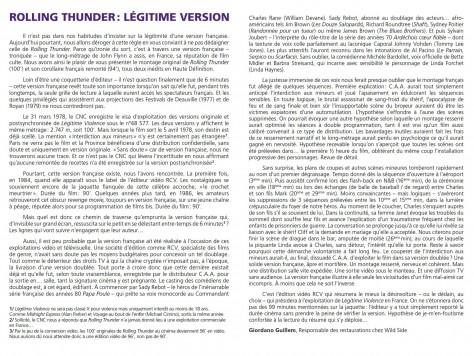 Rolling Thunder - Légitime Version