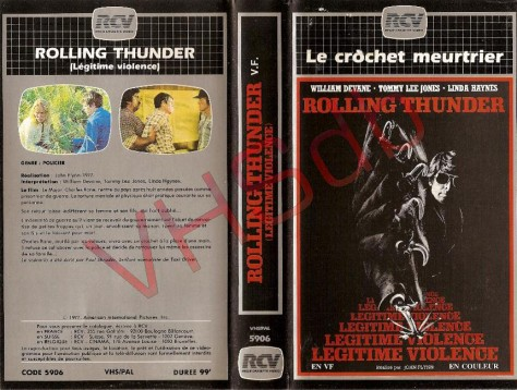 VHS Cover origine France - Légitime Violence