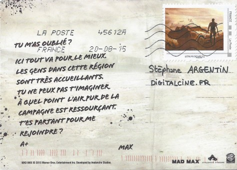 Mad Max - Carte postale