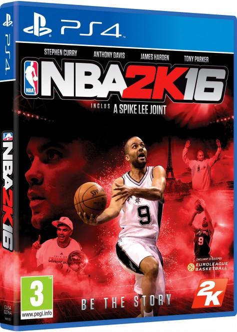 NBA 2K16 - Packshot PS4 Tony Parker