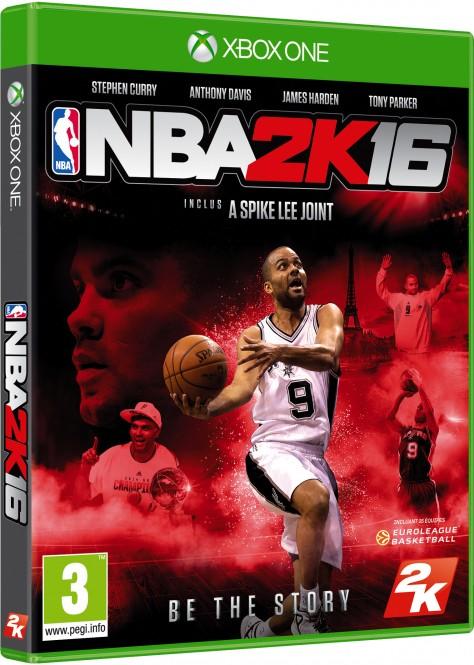 NBA 2K16 - Packshot Xbox One Tony Parker