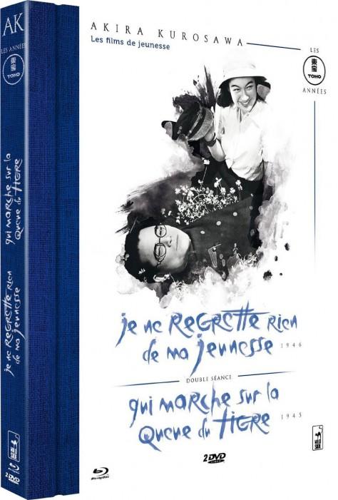 Akira Kurosawa - Les films de jeunesse : Je ne regrette rien de ma jeunesse + Qui marche sur la queue du tigre - Packshot Blu-ray