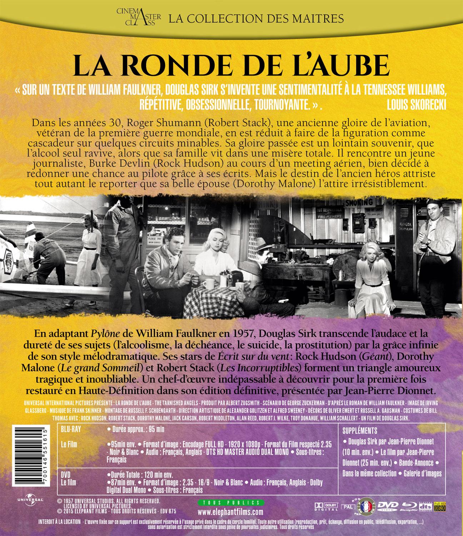 La Ronde de l'aube - Jaquette verso Blu-ray