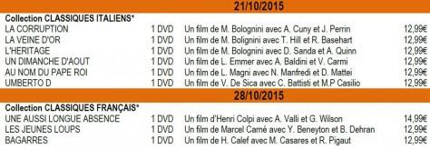 Classiques DVD - M6 / SNC - Octobre 2015