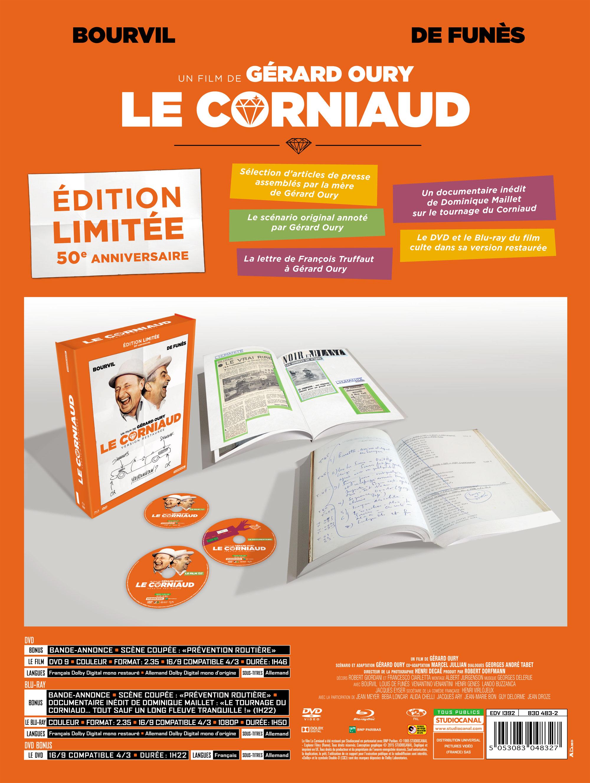 Le Corniaud - Blu-ray 2015