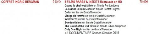 Annonce - Coffret DVD Ingrid Bergman