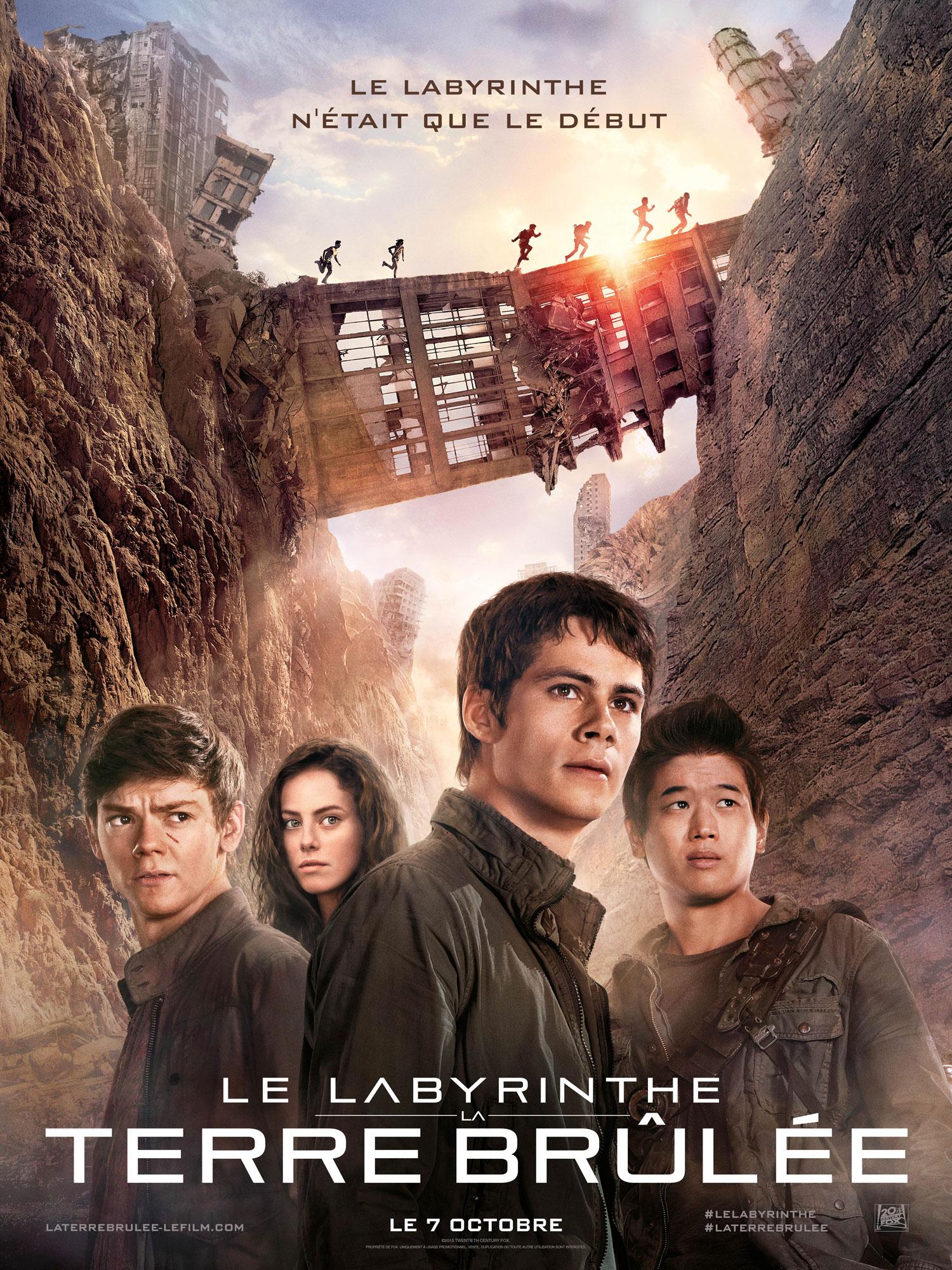 Le Labyrinthe La terre brûlée - Affiche