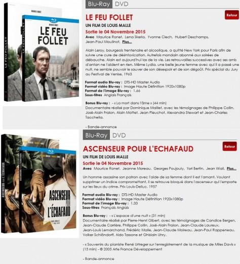 Louis Malle - Blu-ray - Novembre 2015