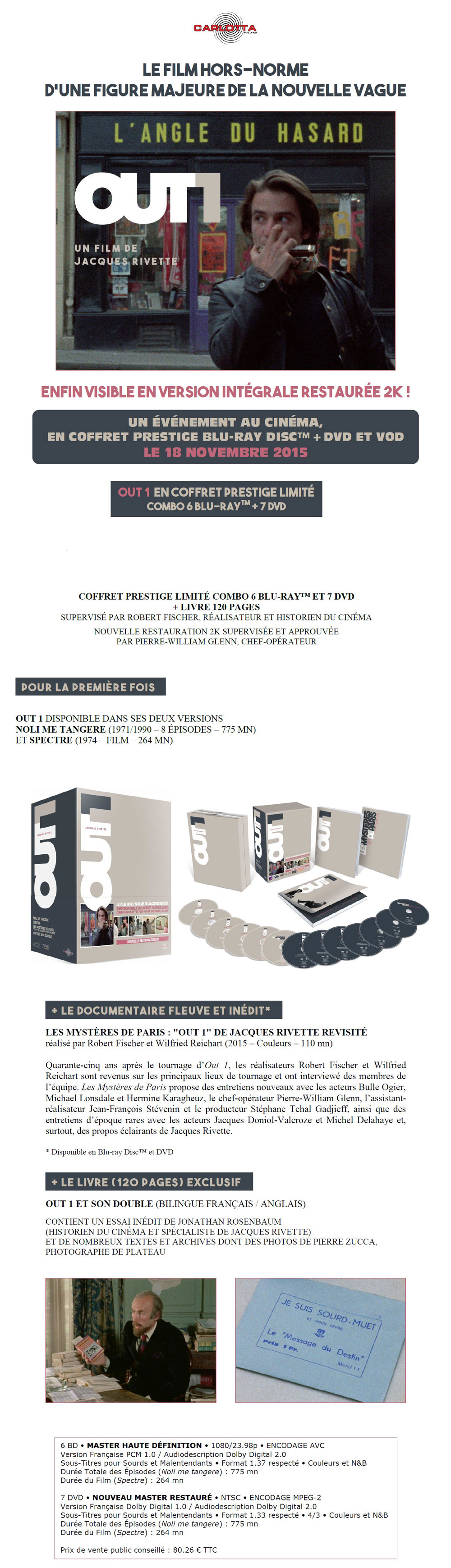 Out-1 - Annonce Presse Coffret Blu-ray
