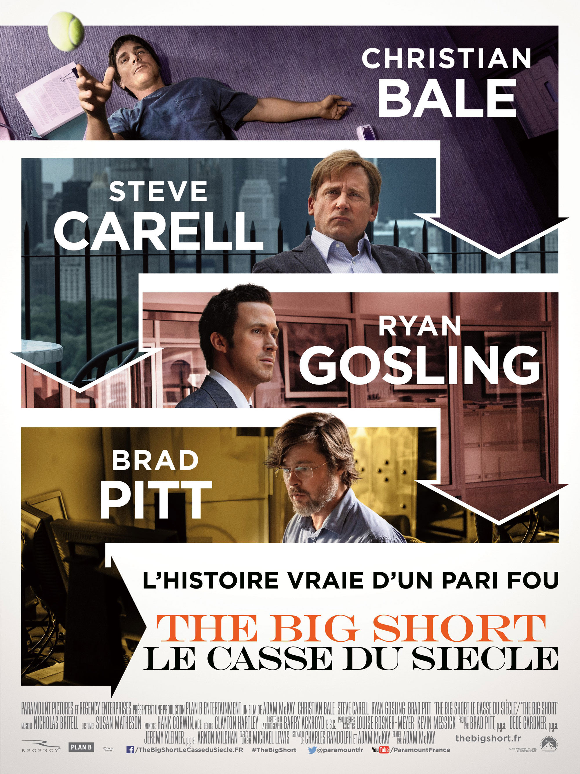 The Big Short - Affiche francaise
