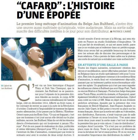 Cafard - Article du Film Français