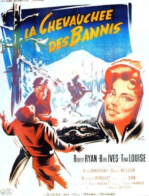 La Chevauchée des bannis - Affiche 1959