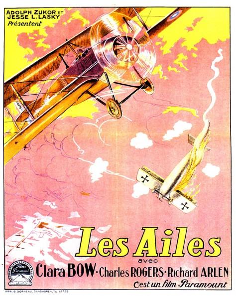 Les Ailes - Affiche française 1927