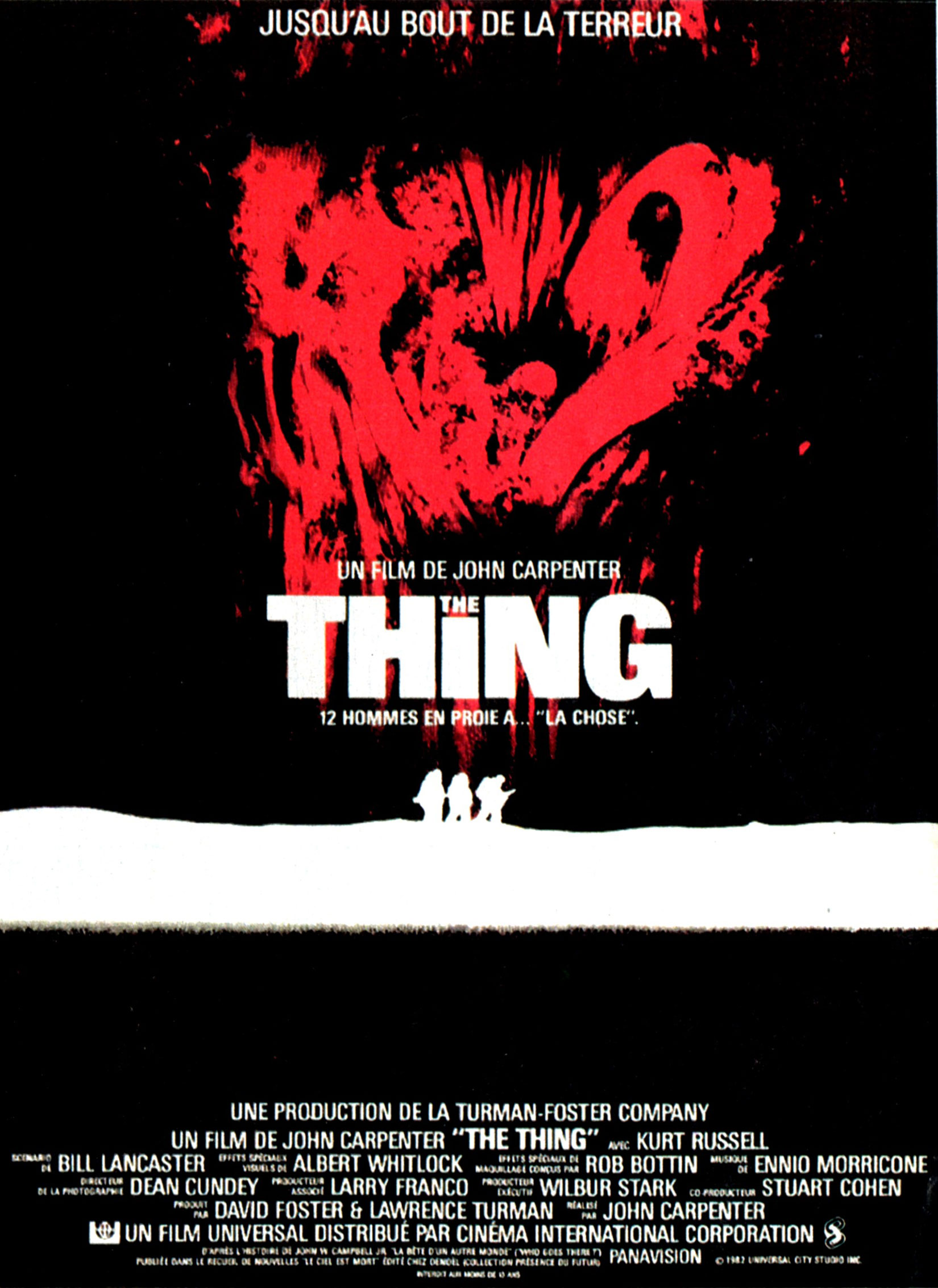 The Thing - Afficche FR 1982