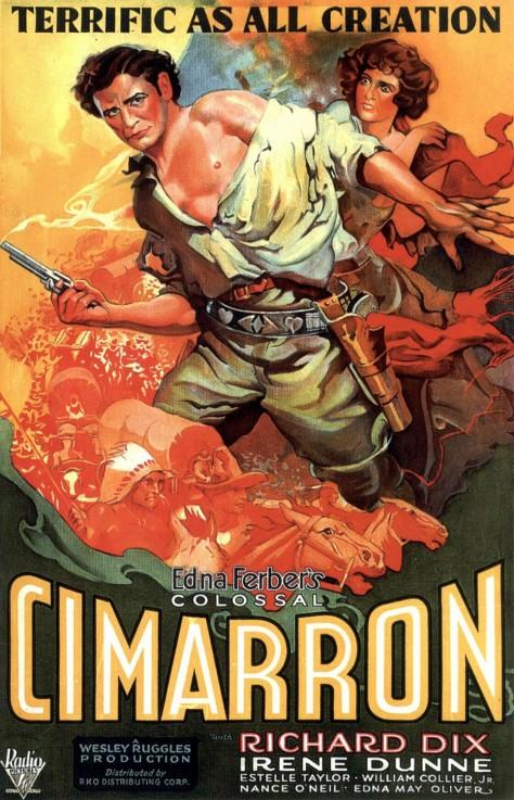 Cimarron (La Ruée vers l'Ouest) - Affiche US 1932
