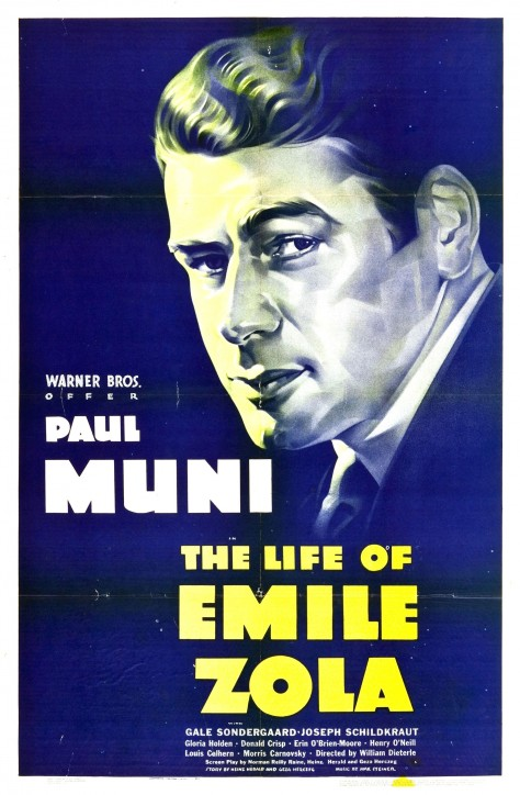 The Life of Emile Zola - Affiche US