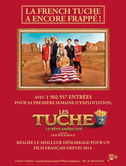 Tuche 2 Communique de presse box office