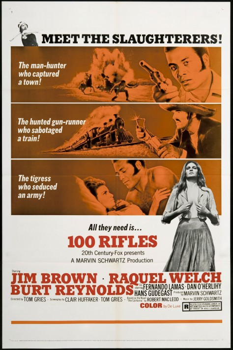 100 Rifles - Affiche US