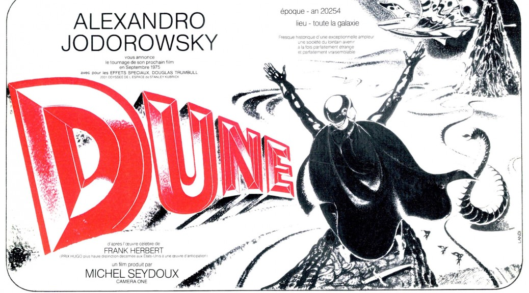 Dune Jodorowsky 1975 - Affiche