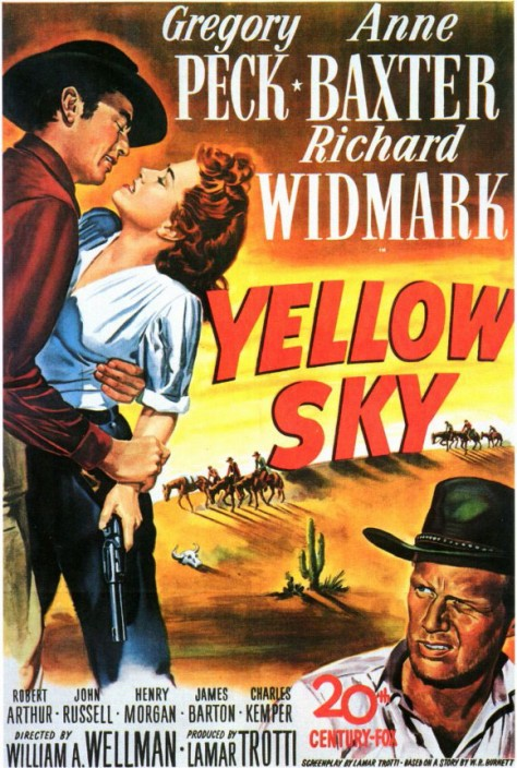 Yellow Sky - Affiche US