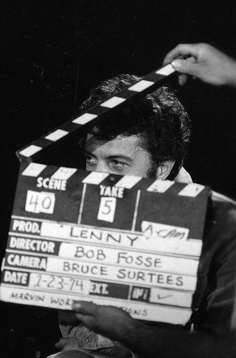 Lenny - Photo de tournage avec Dustin Hoffman