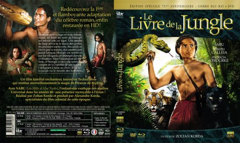 Jaquette Blu-ray + DVD Le Livre de la jungle - Jeu concours Sabu