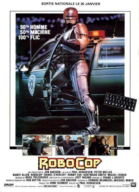 RoboCop de Paul Verhoeven - Affiche France