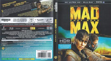 Mad Max Fury Road – Jaquette Blu-ray 4K Ultra HD