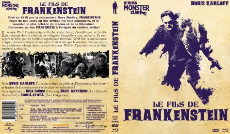 Le Fils de Frankenstein - Jaquette Combo DVD + Blu-ray recto verso
