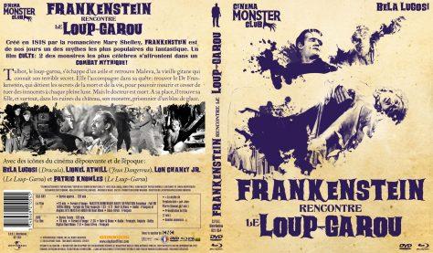 Frankenstein rencontre le loup-garou - Jaquette Combo recto verso