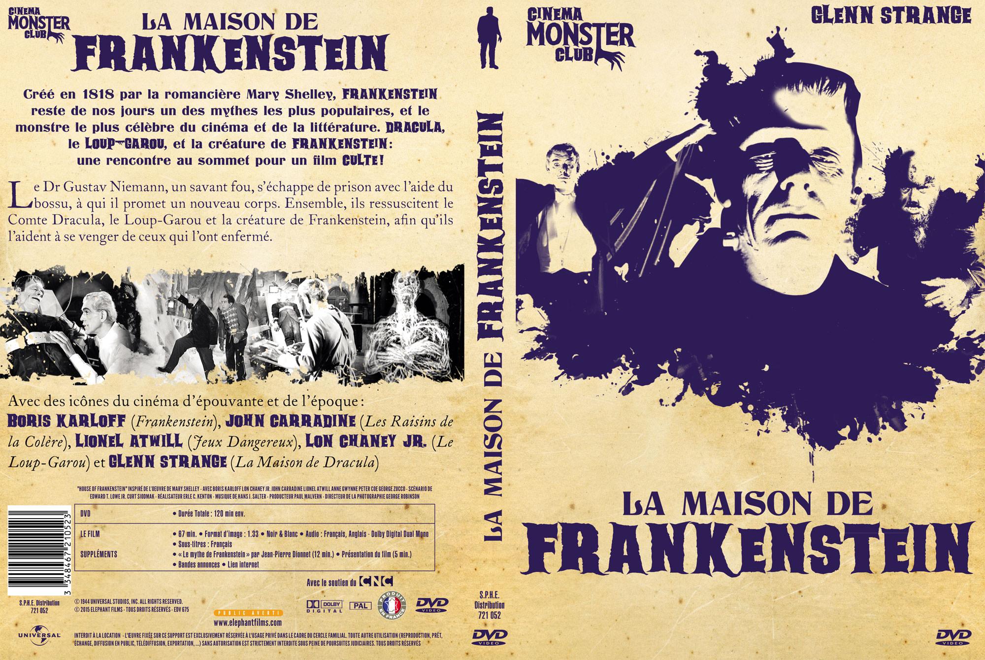 La Maison de Frankenstein - Jaquette DVD recto verso