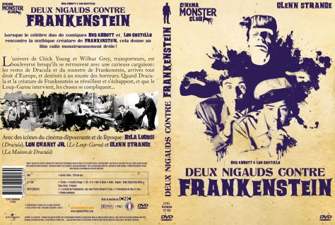 Deux Nigauds contre Frankenstein - Jaquette dvd recto verso
