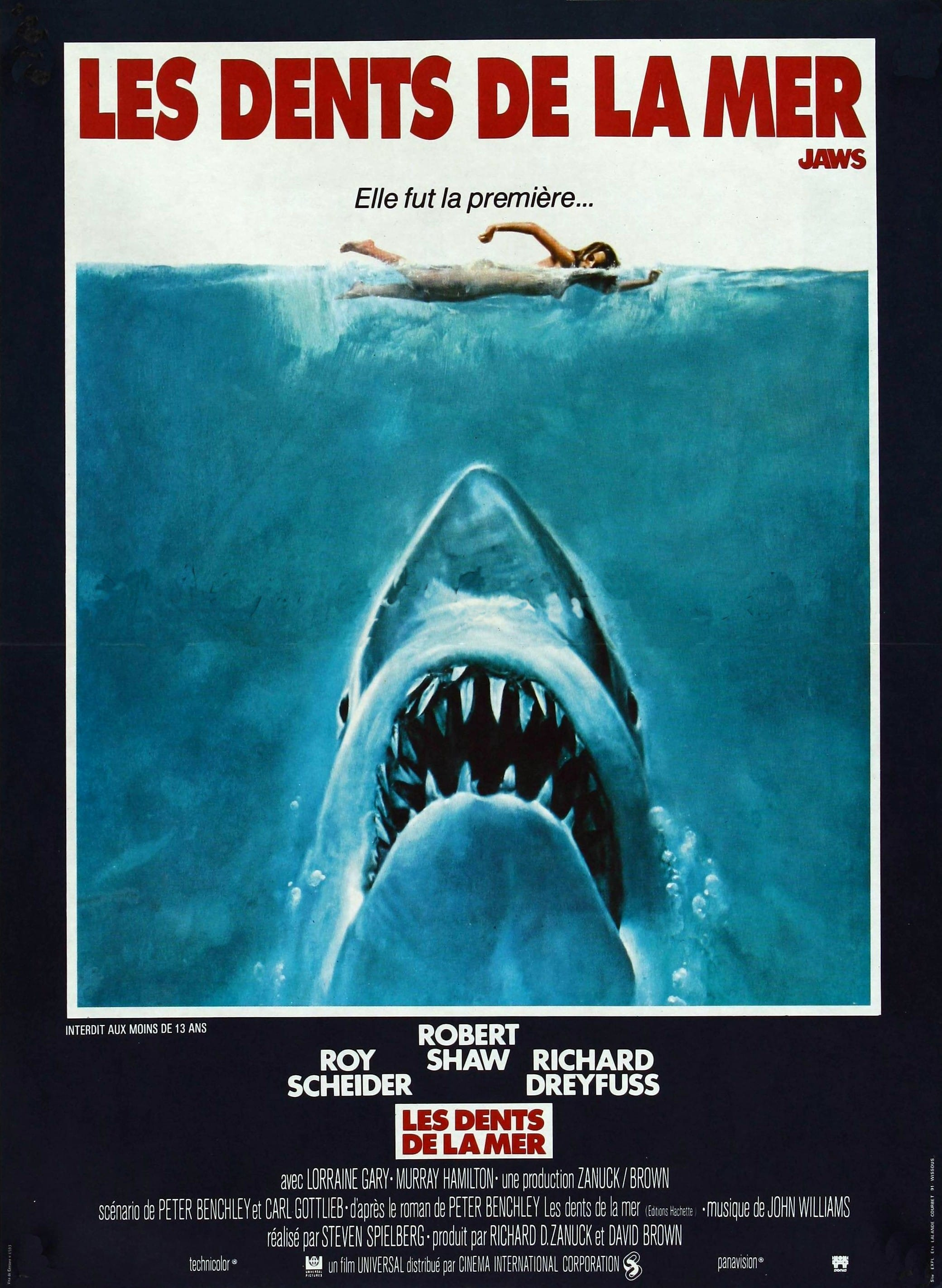 Les Dents de la mer (Jaws) - Affiche France