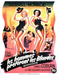 Les Hommes préfèrent les blondes - Affiche 1953