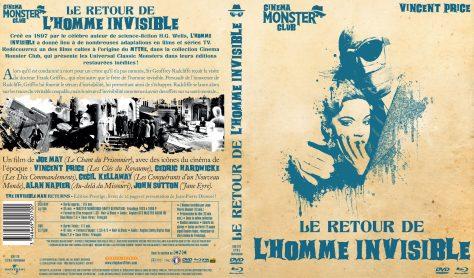 Le Retour de l'Homme invisible - Recto jaquette Blu-ray