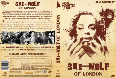 She-Wolf of London - Jaquette DVD recto verso