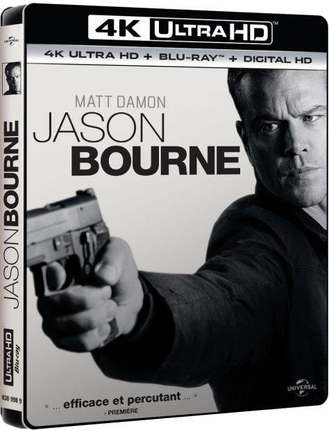 Jason Bourne (2016) de Paul Greengrass - Packshot Blu-ray 4K Ultra HD
