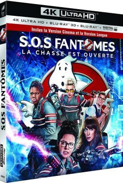 Ghostbusters - S.O.S. Fantômes (2016) de Paul Feig – Packshot Blu-ray 4K Ultra HD
