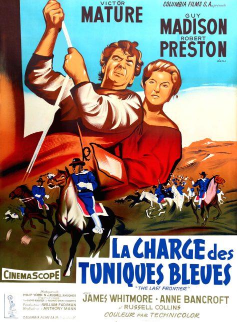 La Charge des Tuniques Bleues - Affiche France