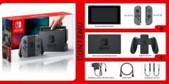 Nintendo Switch - Grey - Contenu