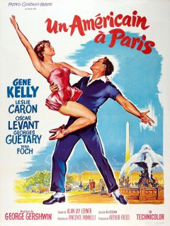 Un américain à Paris - Affiche France