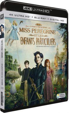Miss Peregrine et les enfants particuliers (2016) de Tim Burton – Packshot Blu-ray 4K Ultra HD