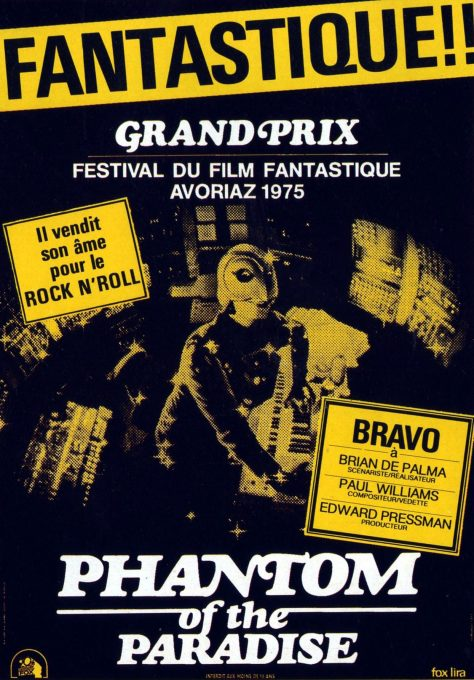 Phantom of the Paradise - Affiche France
