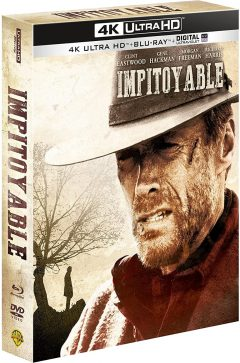 Impitoyable (1992) de Clint Eastwood - Édition 25e anniversaire - Packshot Blu-ray 4K Ultra HD (Fermé)