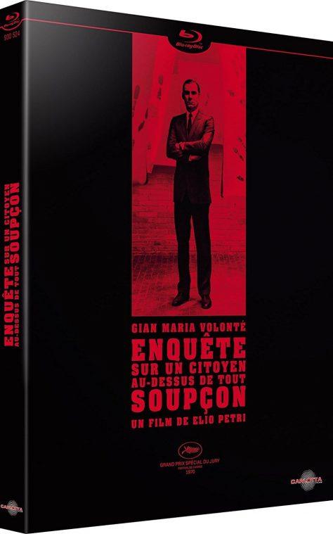 Enquête sur un citoyen au-dessus de tout soupçon (1970) de Elio Petri - Packshot Blu-ray